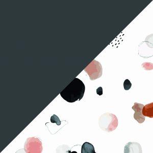 Dark Grey Dots & Circles